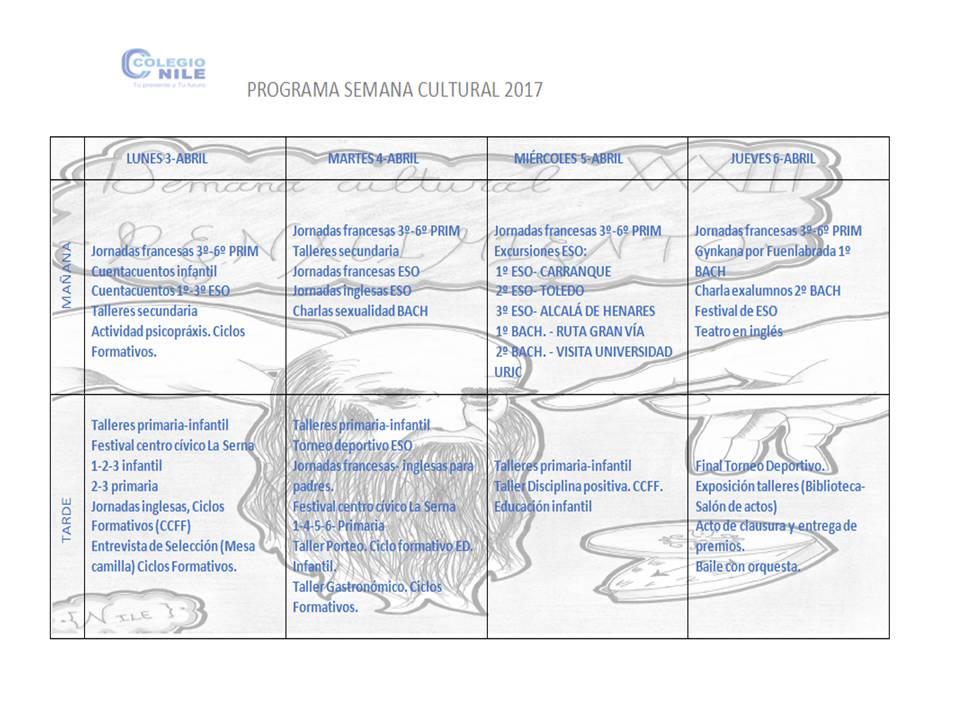 programa semana cultural  u2013 colegio nile